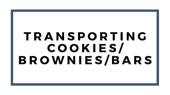 trasporto di biscotti brownies e bar garphic