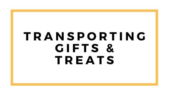 trasporto di regali e dolcetti grafici