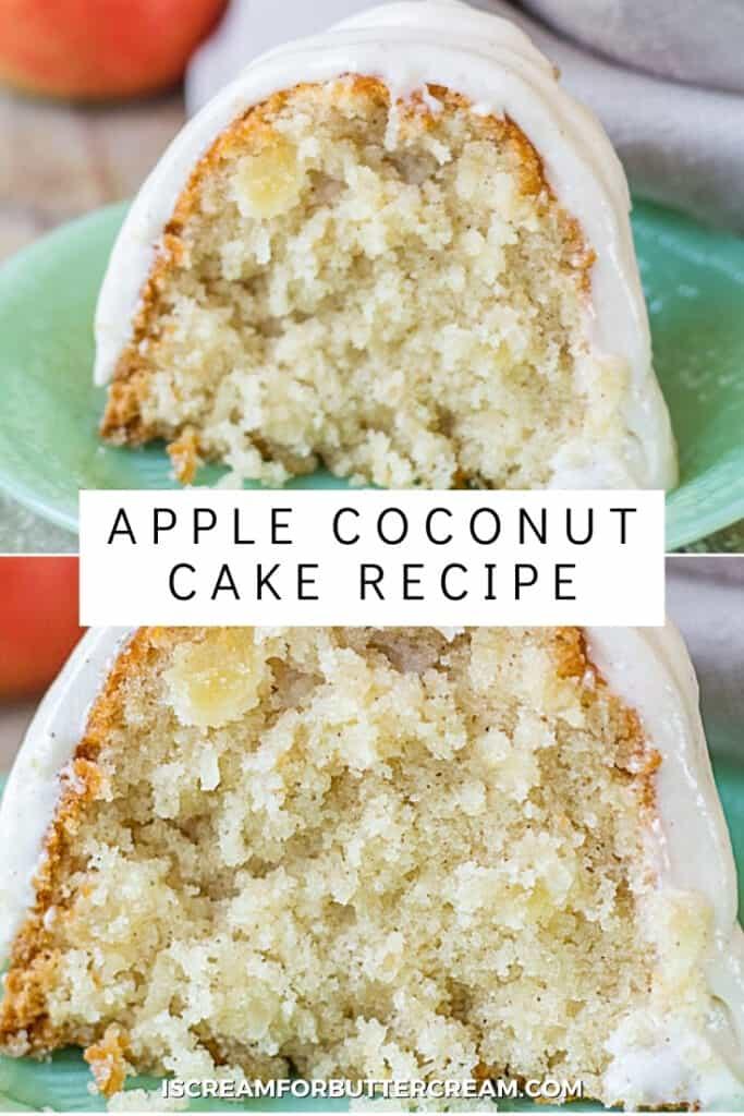 apple coconut bundt cake pin graphic