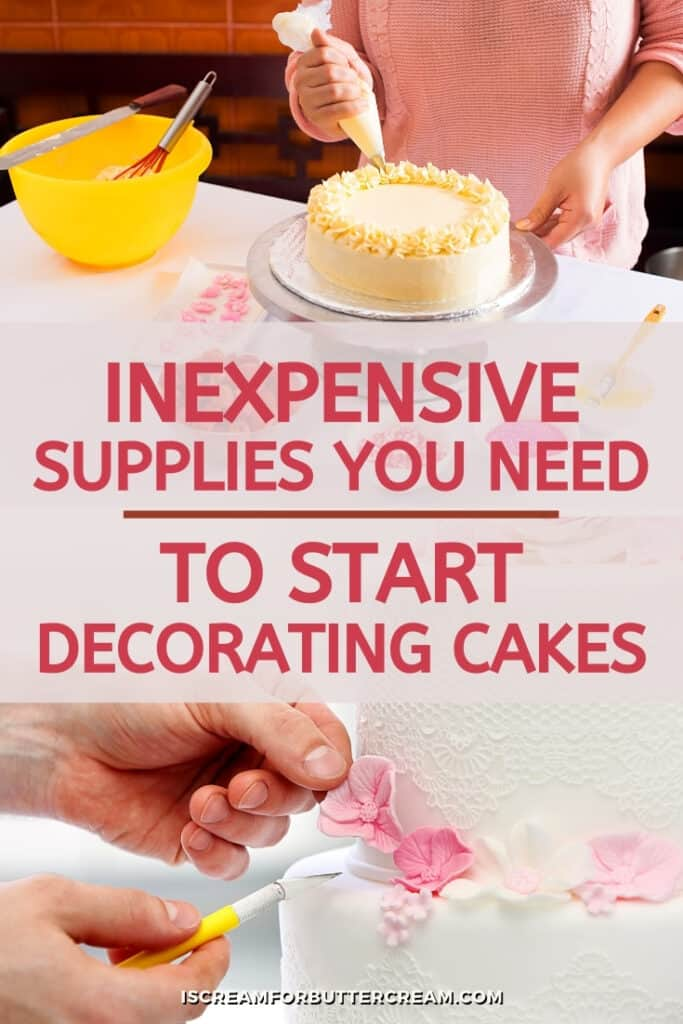 cake decorating supplies that are inexpensive pin graphic