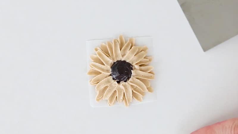 almost finished buttercream sunflower