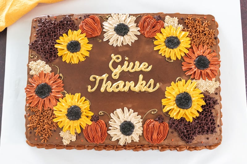 give thanks buttercream cake