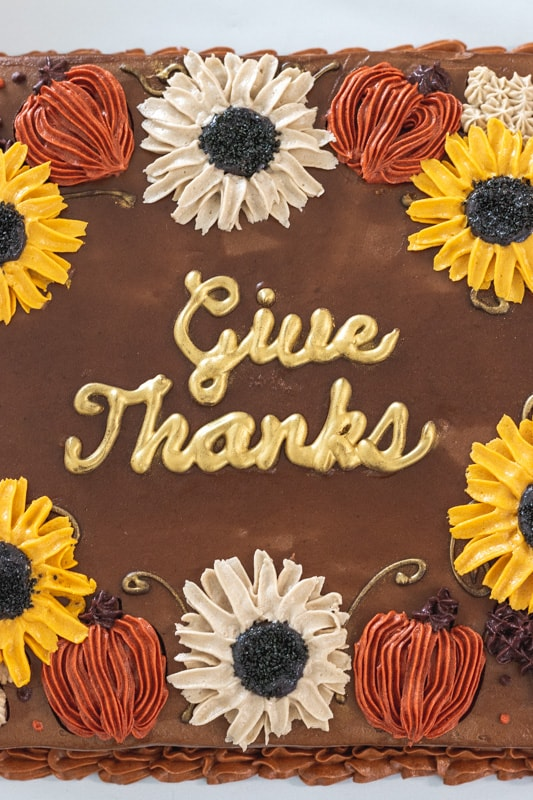 give thanks chocolate cake