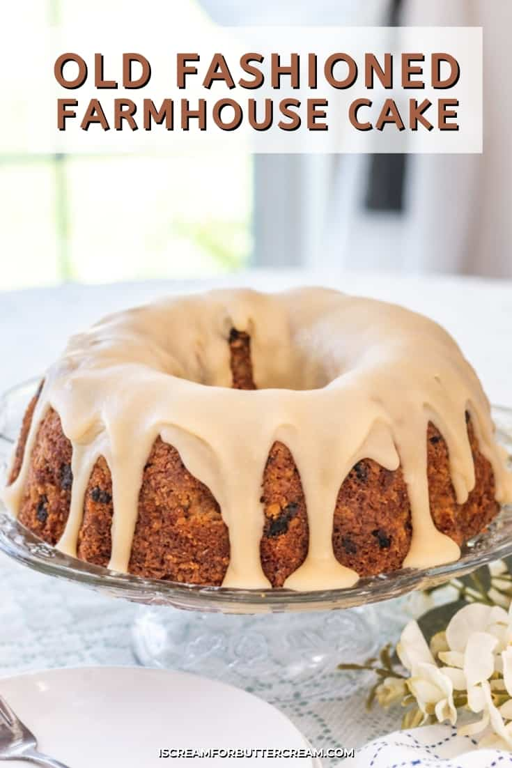 farmhouse cake pinterest graphic