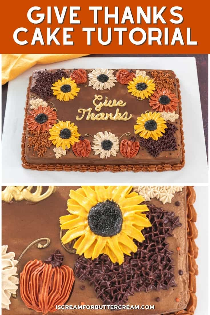 give thanks cake tutorial pin graphic