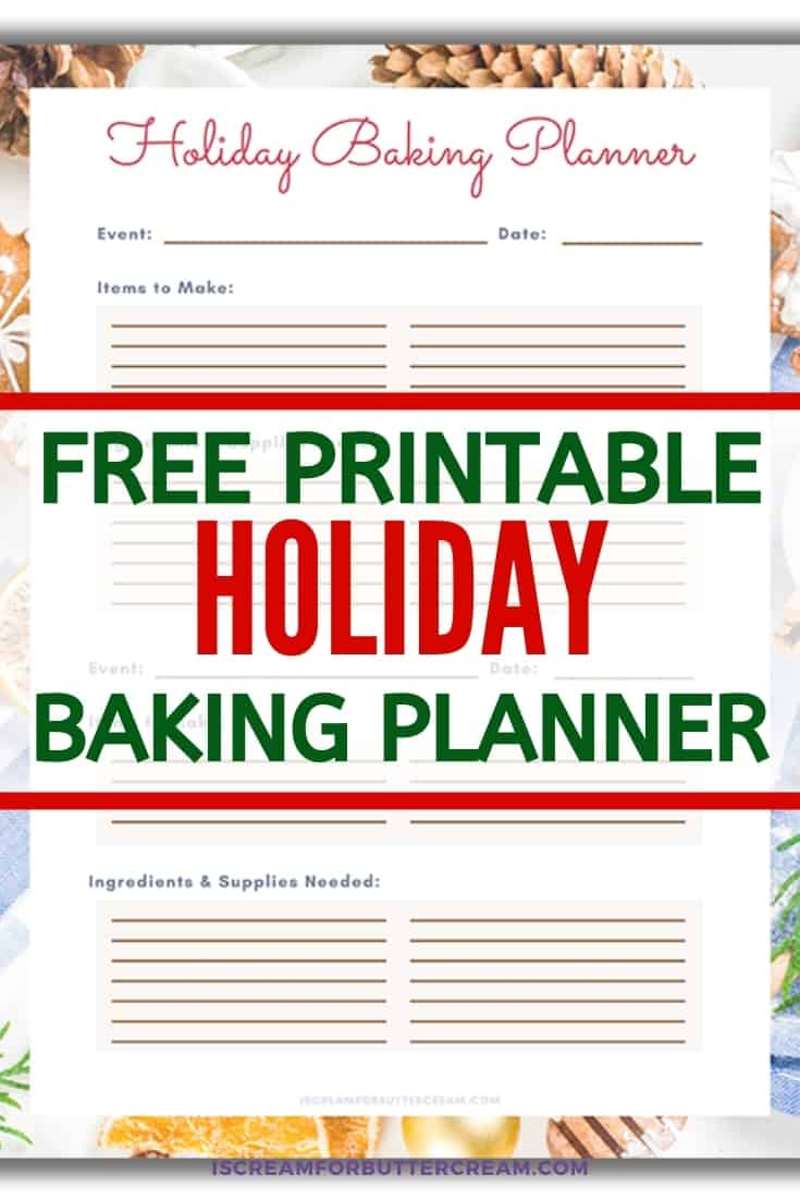 holiday planner for baking pin graphic