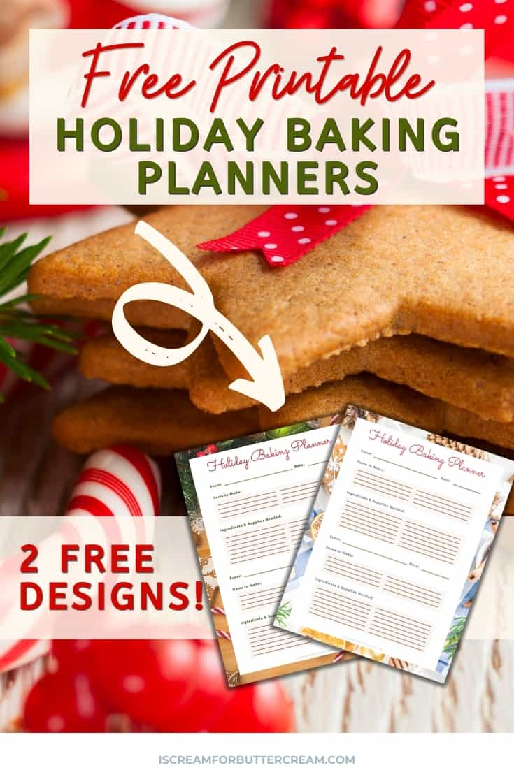 baking planner printable pin graphic