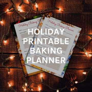 printable baking planner featured image