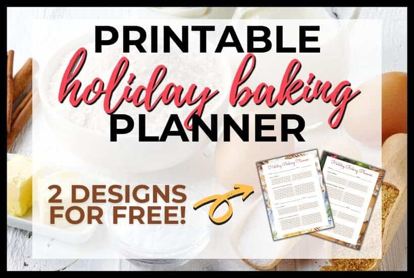 printable holiday baking planning featured image
