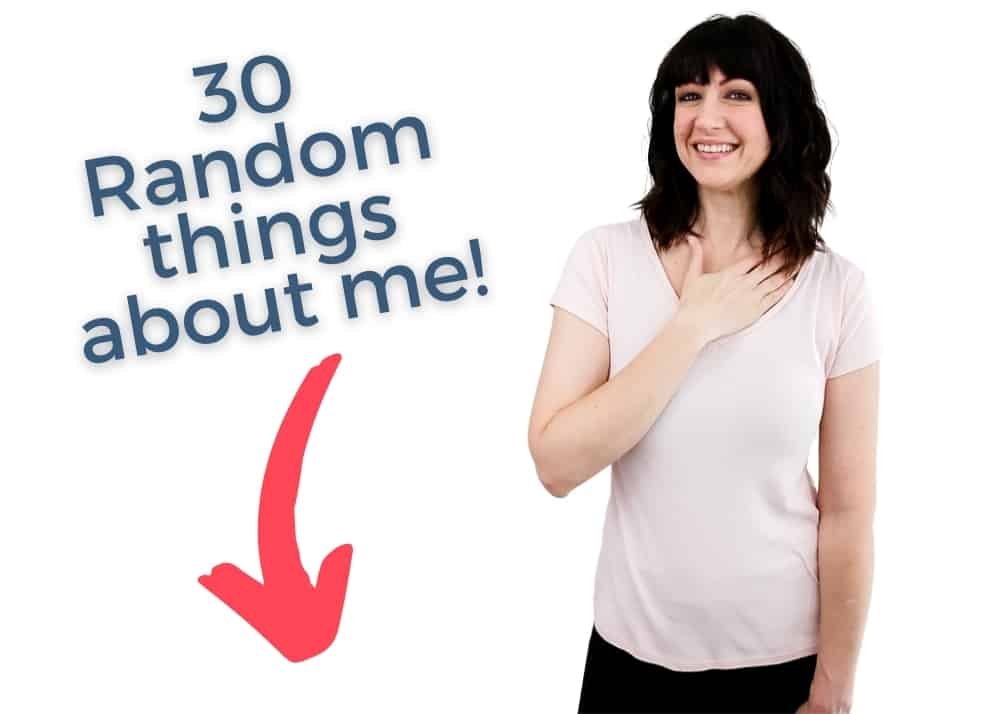 30 random things about me graphic