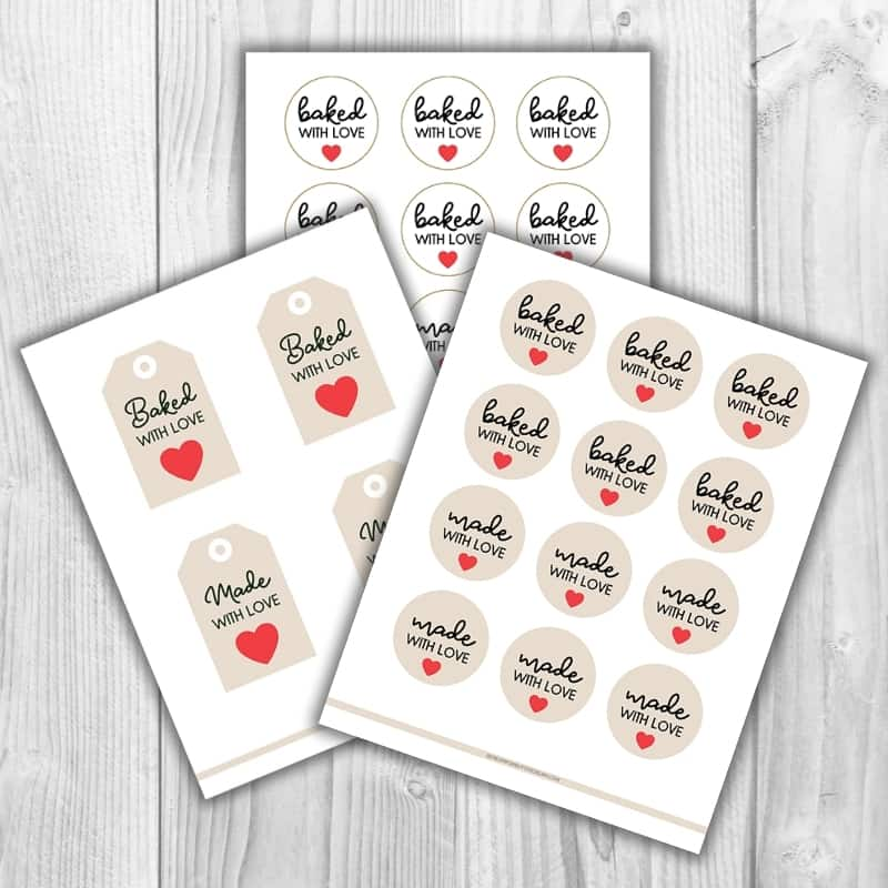 graphic of printables on wood background