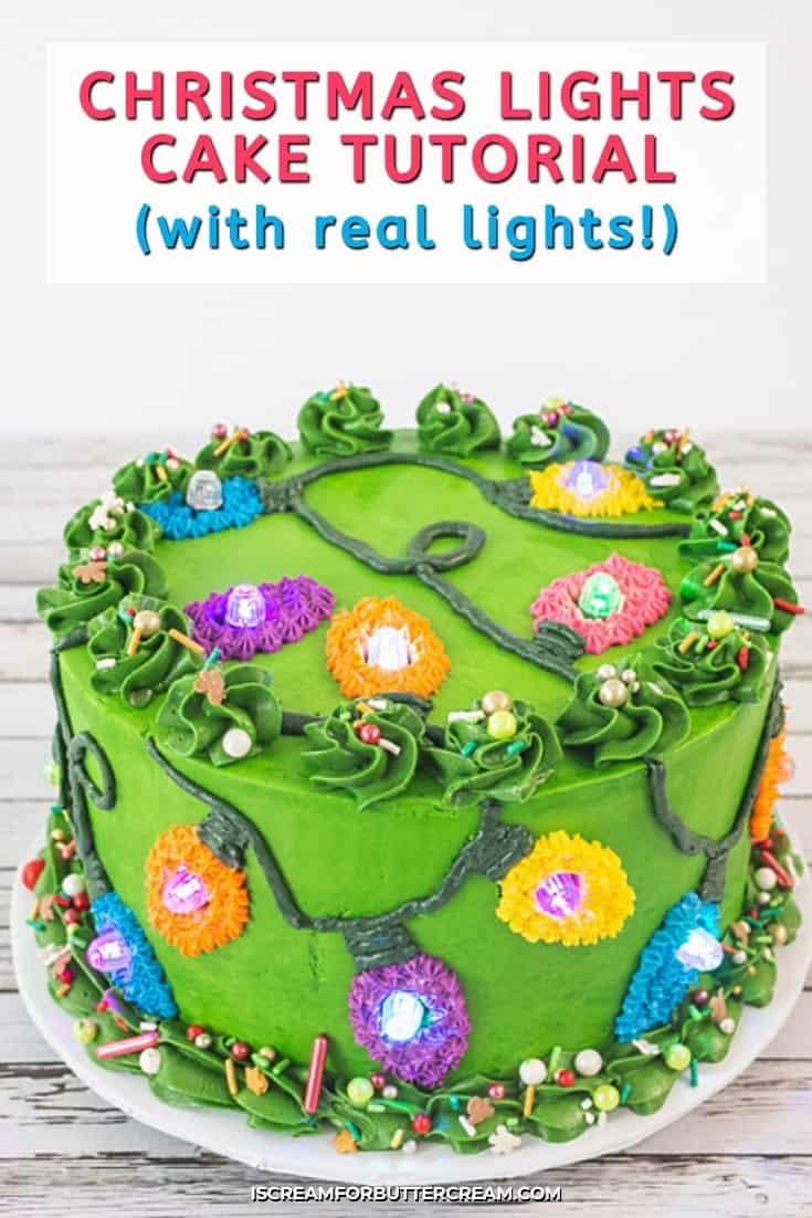 christmas light cake pin graphic