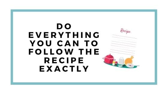 follow the recipe graphic