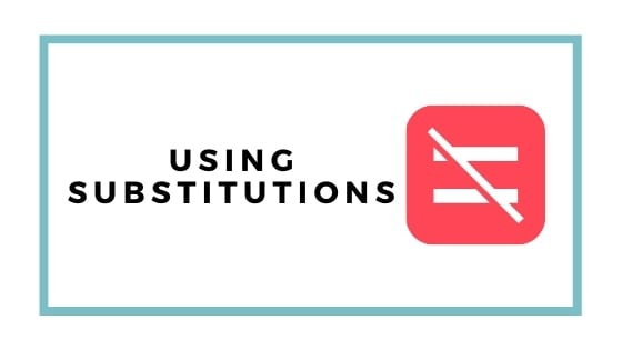 substitutions graphic