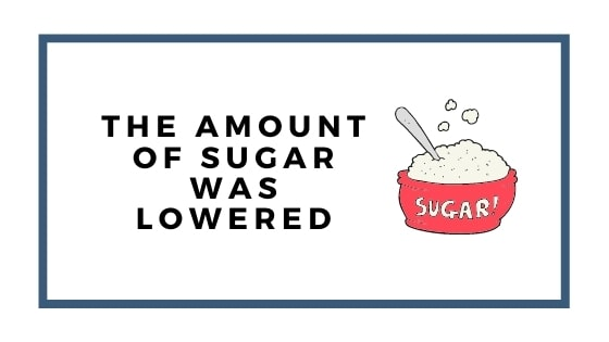 sugar was lowered graphic