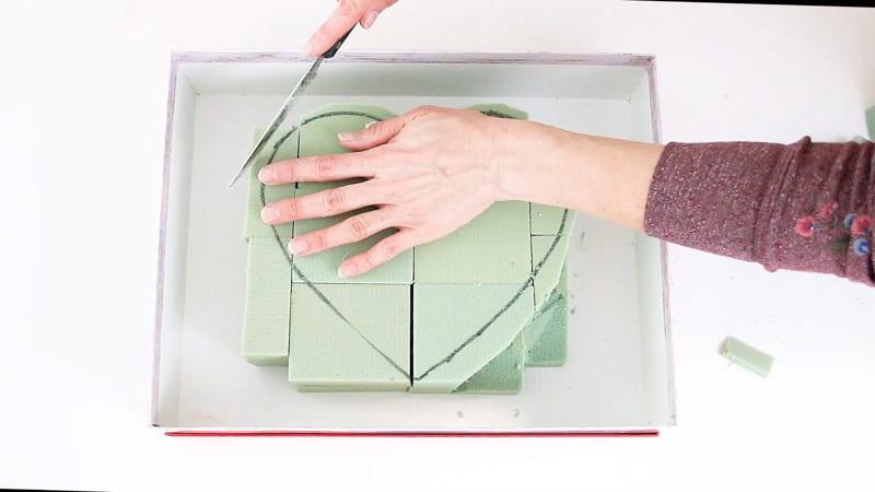 cut the top layer of foam