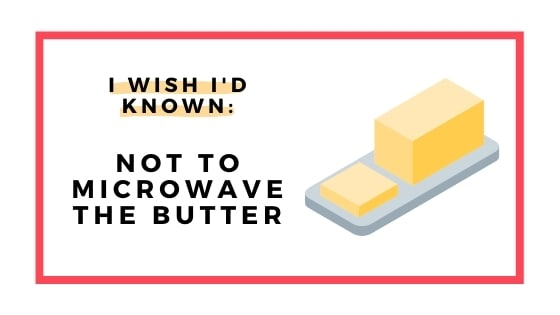 dont microwave the butter graphic