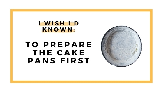 prepare cake pans first graphic