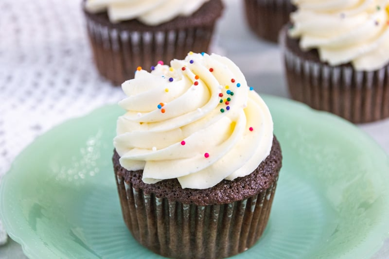 cupcake with whipped buttercream