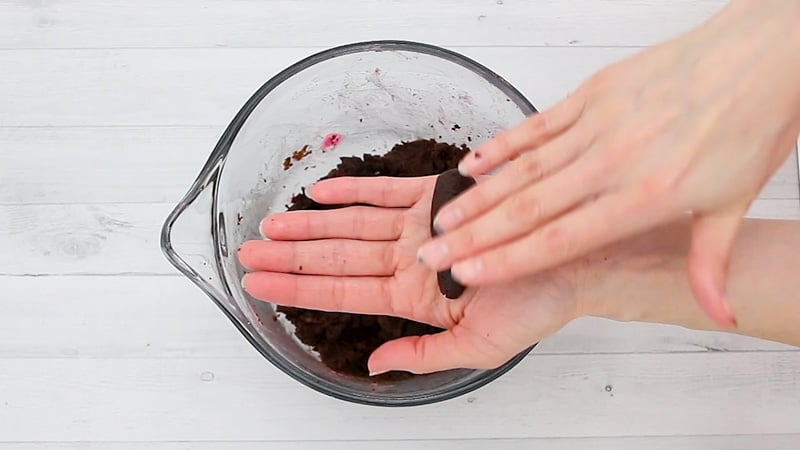 forming the cake pop mixture into carrots