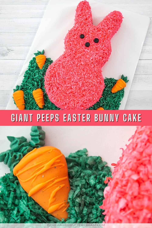 giant peeps bunny cake