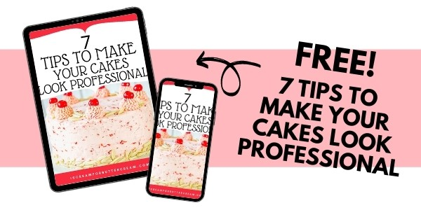 7 tips for cakes ad graphic