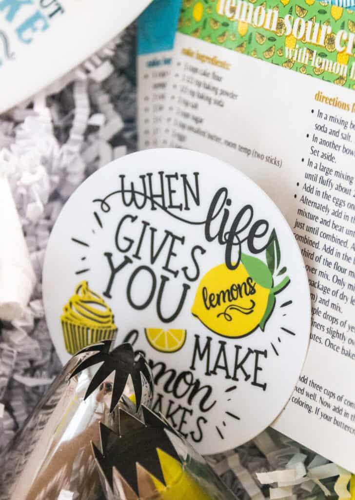 lemon cupcake sticker