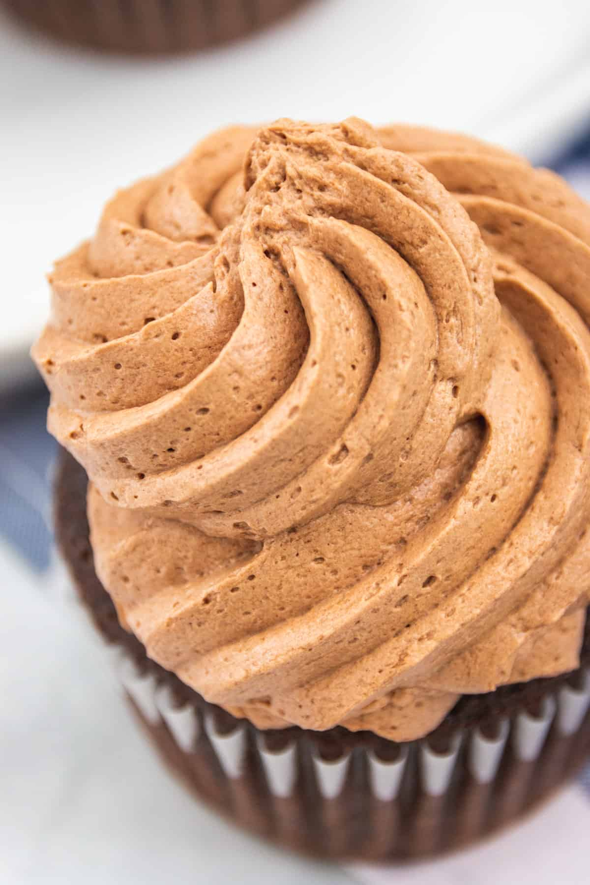 top view of chocolate icing