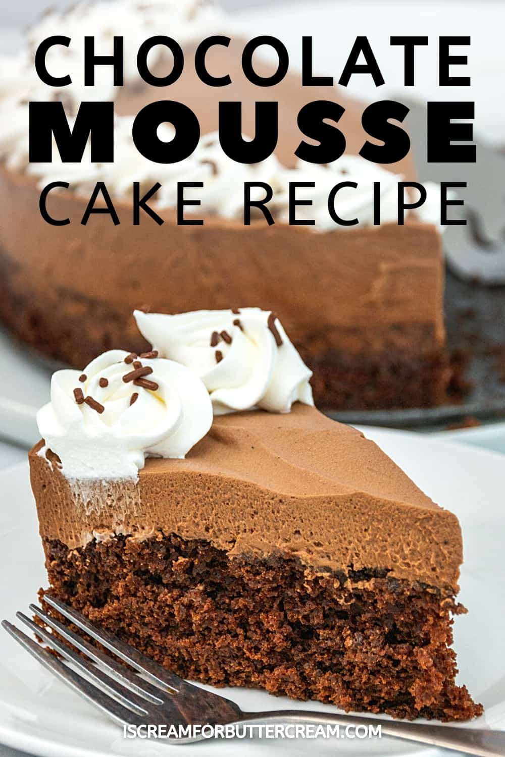 chocolate mousse cake pin graphic