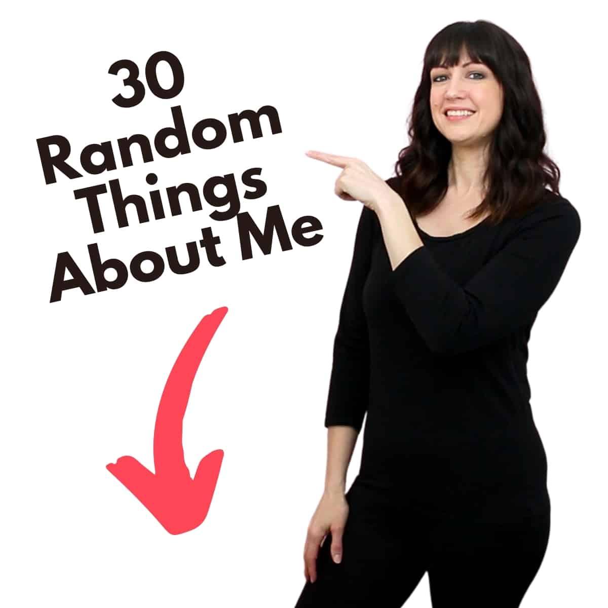 30 random things graphic