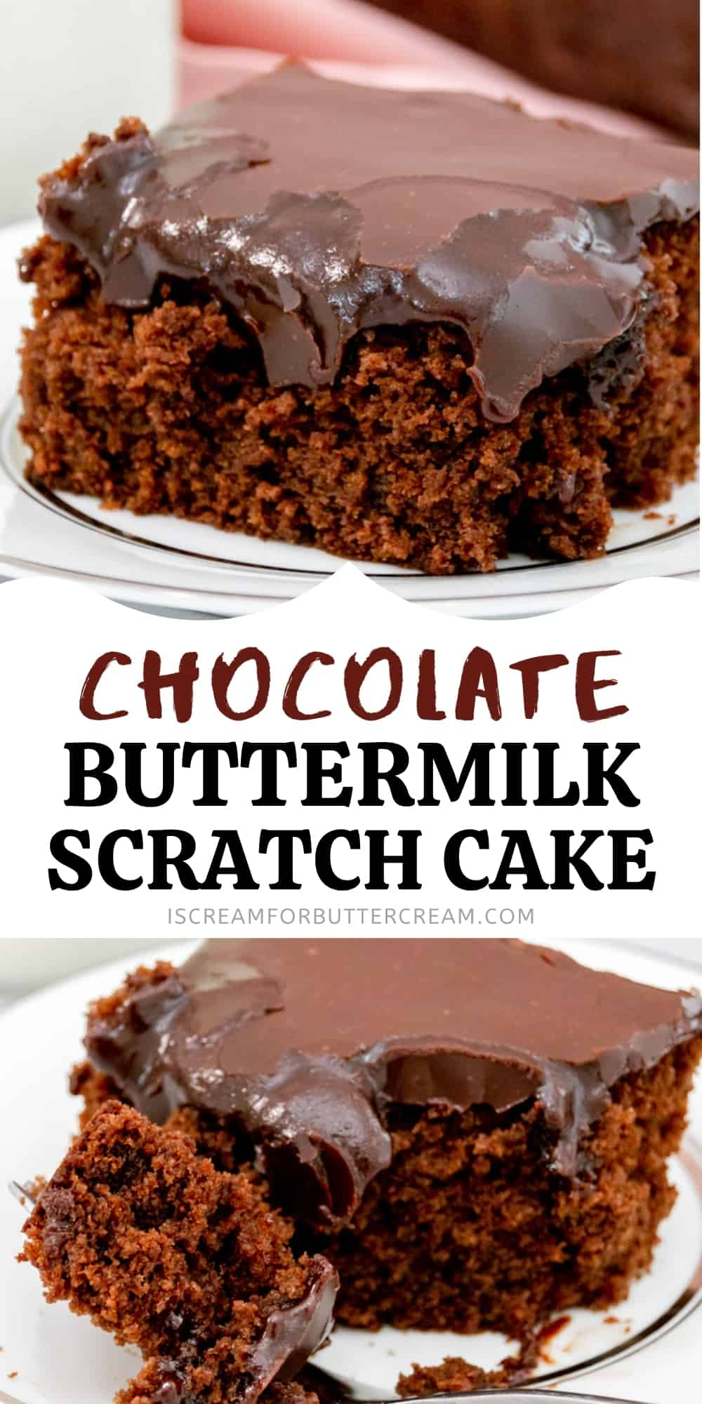 chocolate buttermilk cake pin graphic